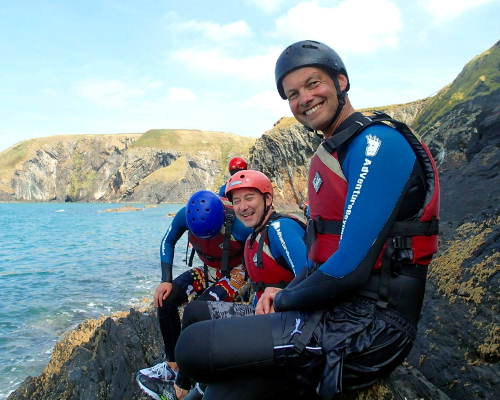 Happy Coasteering at Moylgrove Cardigan