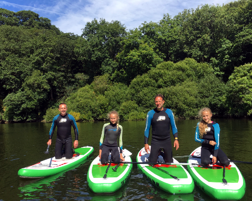 Stand up paddle boarding in Teifi Gorge