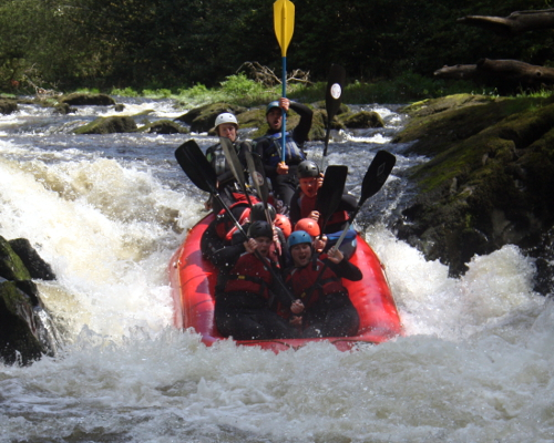 White water rafting Henllan Wales