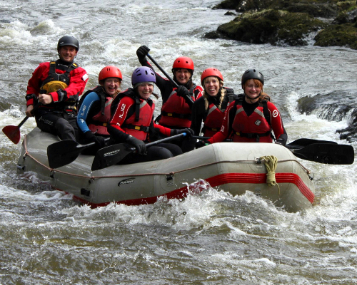White water rafting Teifi Wales